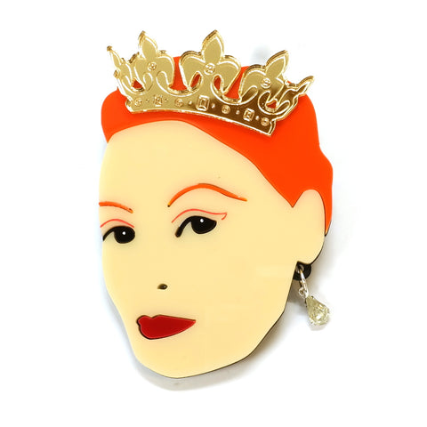 Vivienne Westwood Fashion Designer Icon Acrylic Statement Brooch