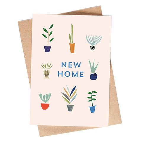 New Home Houseplants Card