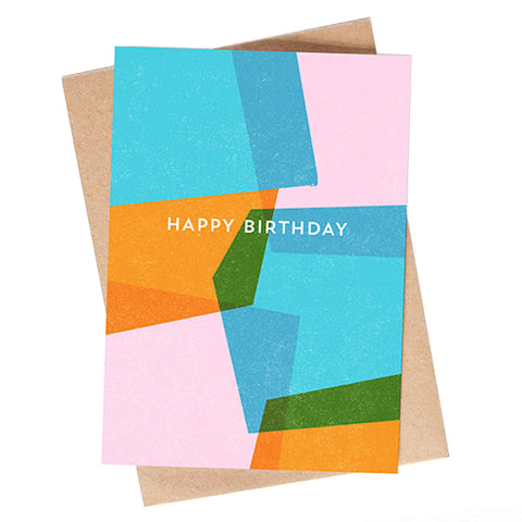 Multicolour Birthday Card