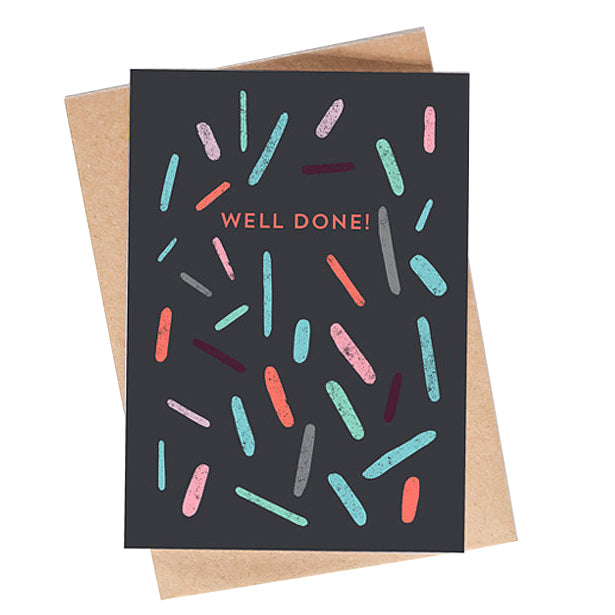 well done confetti card