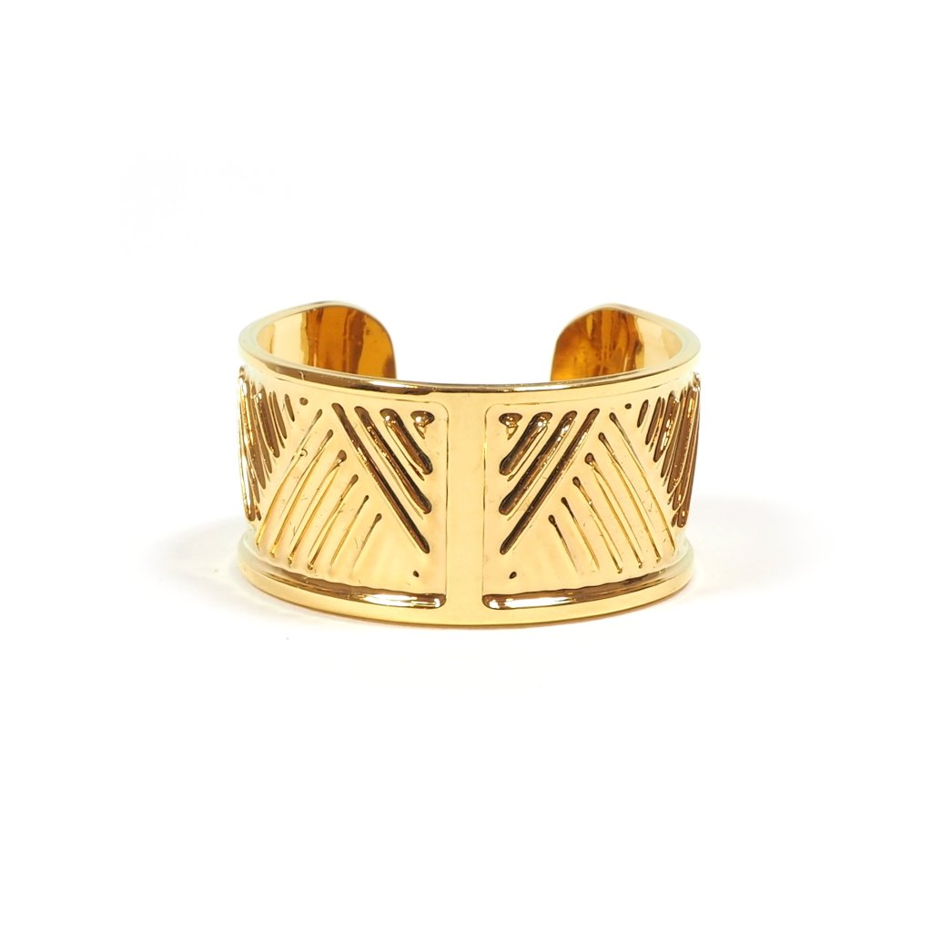 Front Image of Boa Adjustable Gold Plated Ring