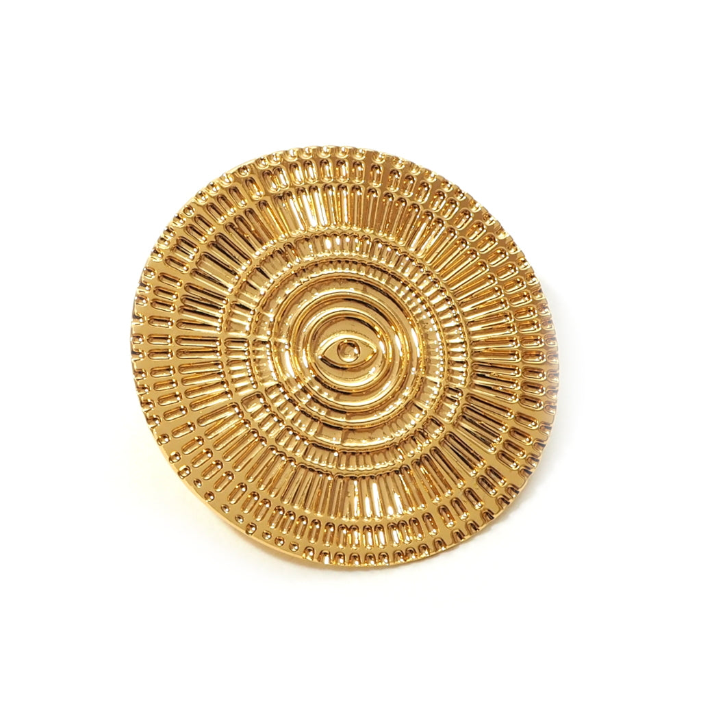 Rayonne Gold Plated Brooch