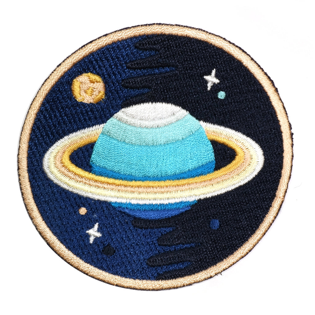 Galaxy Neptune Planet Iron-On Embroidered Patch