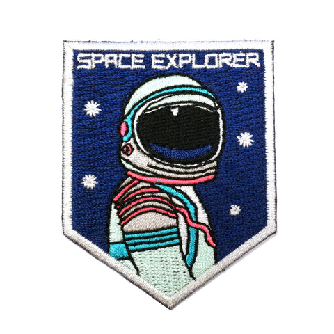 space explorer astronaut embroidered mini patch