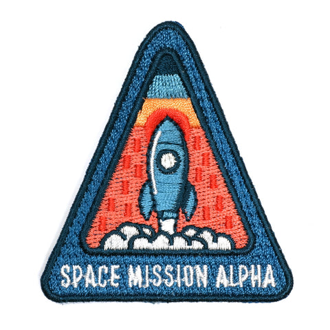 space misson alpha shuttle lift off embroidered patch