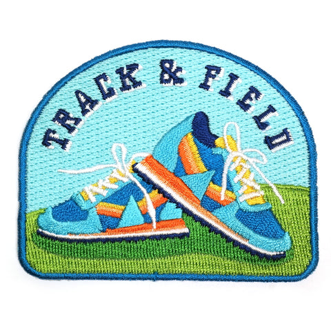 track and field running trainers embroidered patch