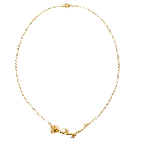 Mood Good - Rose Choker - Gold