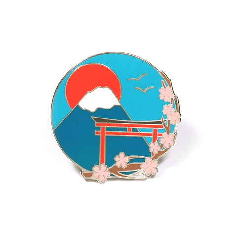 Mount Fuji Enamel Pin by Hand Over Your Fairy Cakes