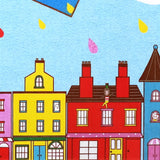 Detail of Quirky Daytime Edinburgh Skyline Paper Plane Sunae Sand Art Print