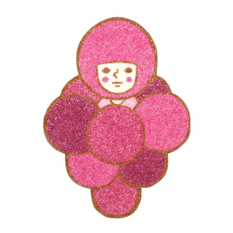 cute fruity blackberry person quirky suane sand art original artwork