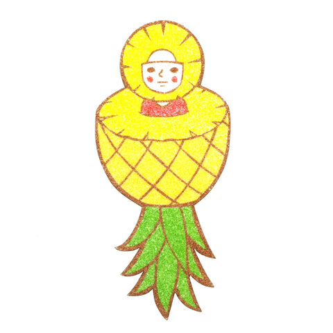 Quirky Pineapple Sand Art Sunae Original Artwork