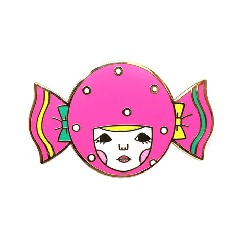 cute kawaii surreal sweetie girl enamel metal pin brooch