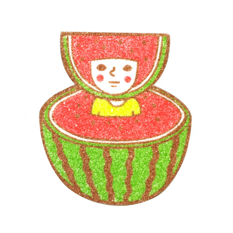 fruity watermelon cute sunae sand art original artwork