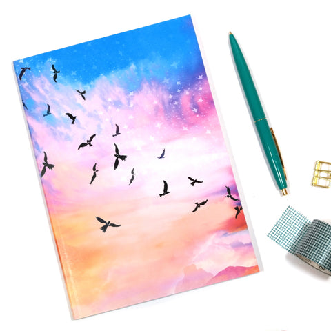 A5 Celestial Flight Notebook Cover