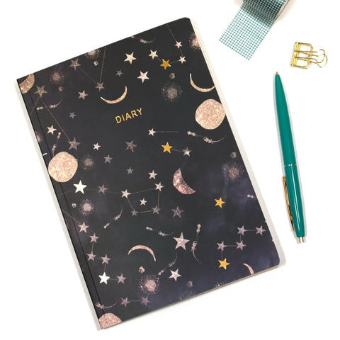 A5 2019 Diary with Constellations Cover