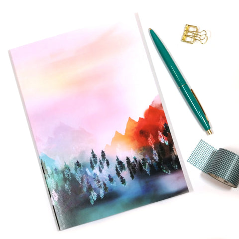 A5 Mystic Mountains Notebook Front Cover