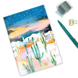 A5 Notebook with Cactus Print Cover