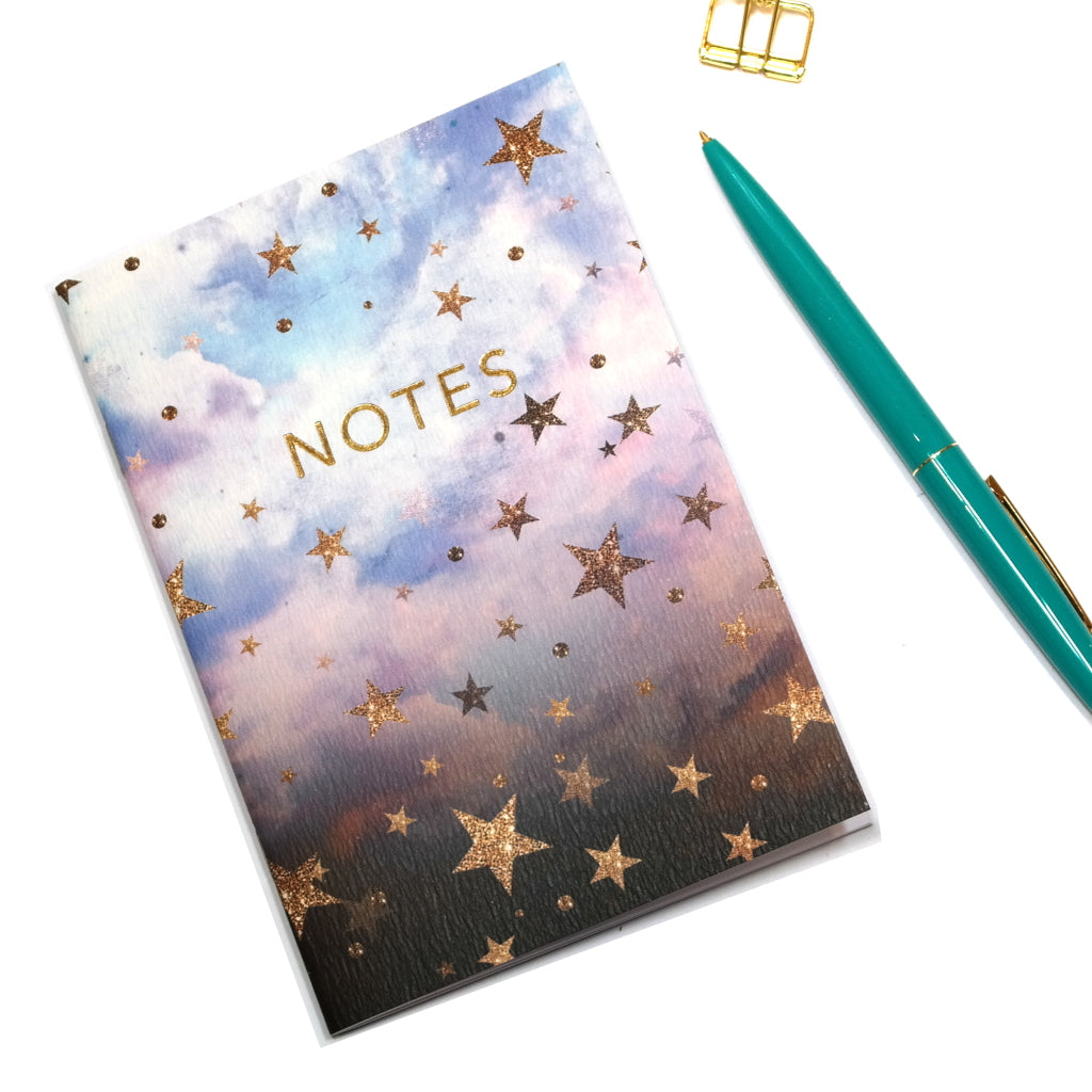 A6 Cloudy Stars Notebook Outside Cover
