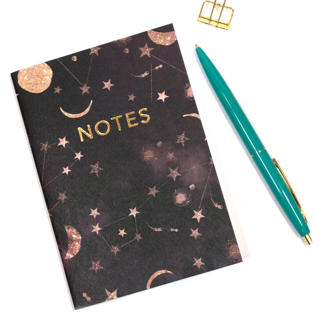 A6 Constellations Star Print Notebook Front Cover