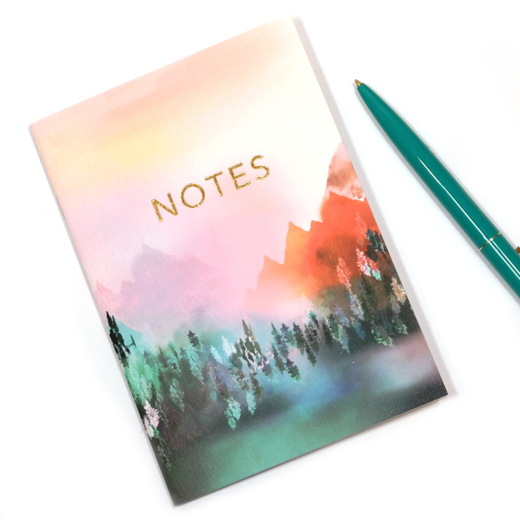 A6 Mystic Mountains Notebook Outside Cover