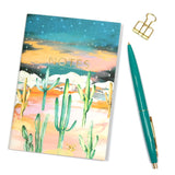 A6 Twilight Cactus Notebook Outside Cover