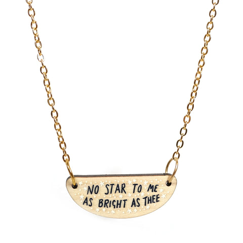 No Star to Me Necklace in Gold