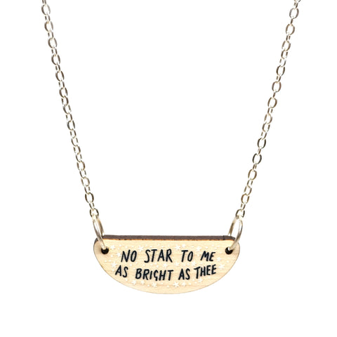 No Star to Me Necklace in Silver