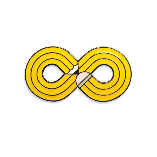 non stop yellow pencil infinity pin by robbie porter