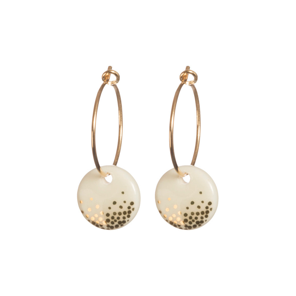 Mist Dot Earrings in Gold