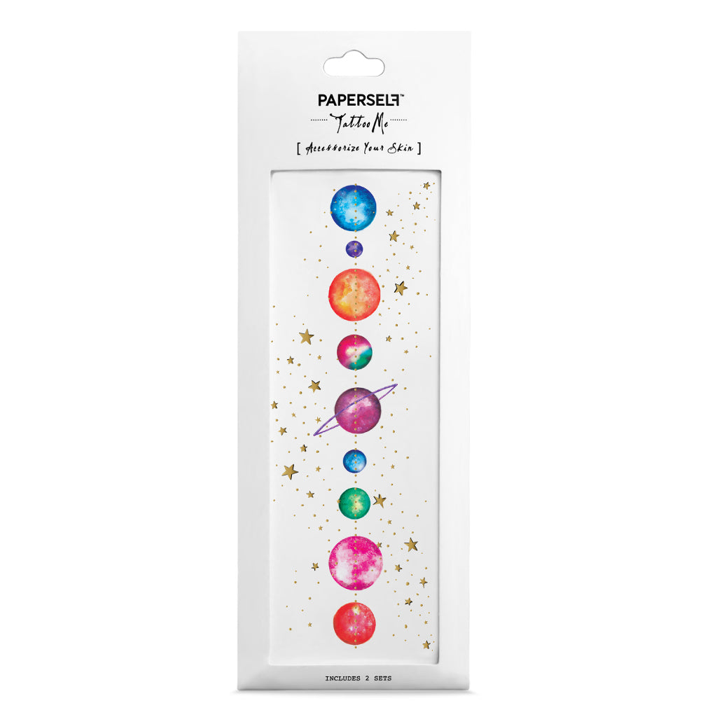 Hannah Zakari Planets Temporary Tattoo Set