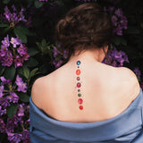 temporary tattoo colourful planets and stars model image