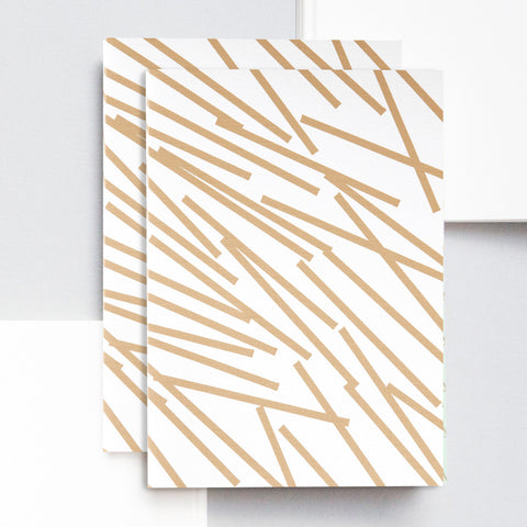 A6 Pocket Notebook in Gold Lines