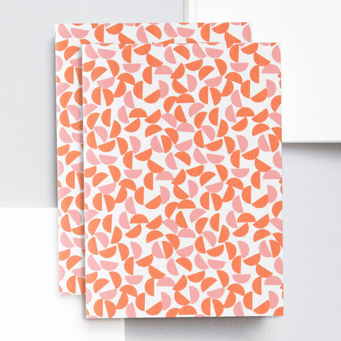 A6 Pocket Notebook in Orange and Salmon Maze