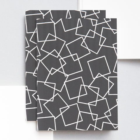 A6 Pocket Notebook in Charcoal Squares