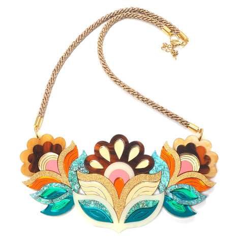 Flora Garland Statement Bib Necklace