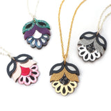 All Colours of Acrylic Flora Mini Pendant Necklace