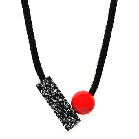 Ad Necklace in Red