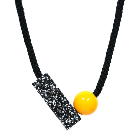 Ad Necklace in Yellow