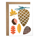 Autumn Illustrated Mini Card with Envelope