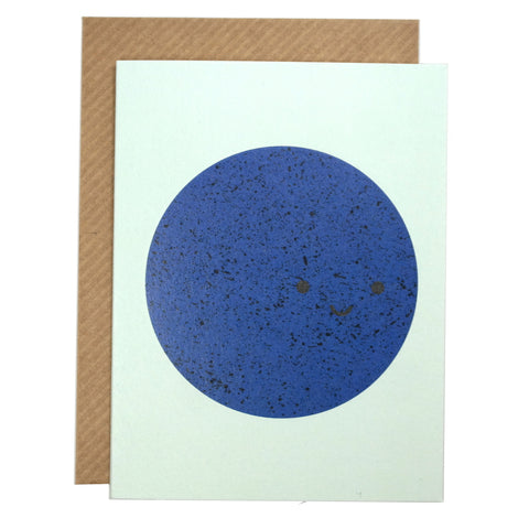 Blue Moon Mini Greetings Card with Envelope