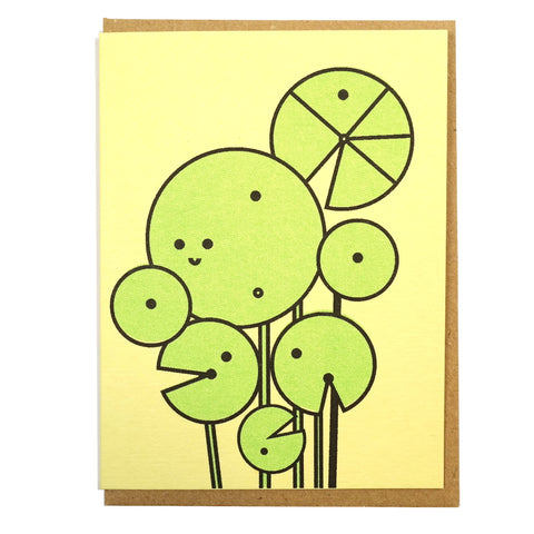 chinese money plant Pilea peperomioides mini greetings card