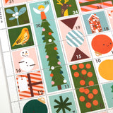 Christmas Stamps Advent Calendar Close Up