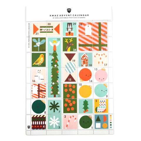 Christmas Stamps Advent Calendar in Packaging