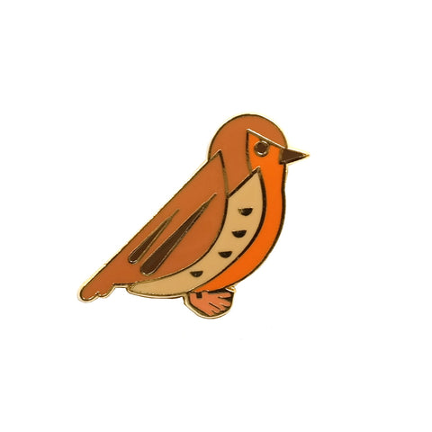 red robin cute enamel metal pin brooch