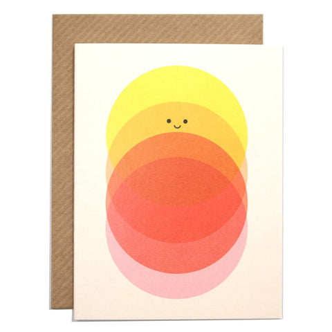 sunrise to sundown illustrated greetings card with envelope