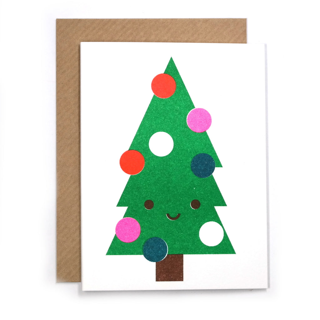 Cute Christmas Tree Mini Card with Envelope