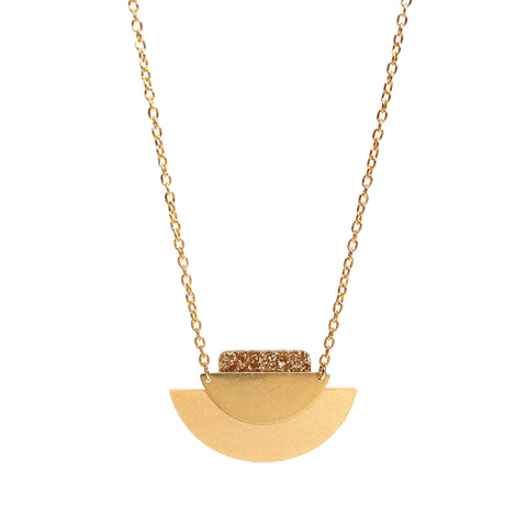 Segment Necklace in Gold