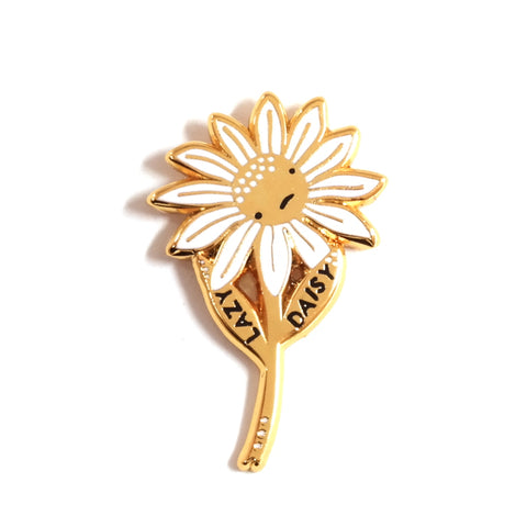 Lazy Daisy Cute Floral Enamel Pin