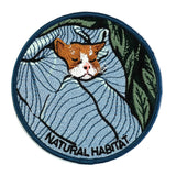 Kitty Cat In Bed Natural Habitat Iron On Embroidered Patch