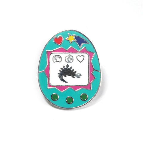 Virtual Pet Tamagochi Inspired Enamel Pin